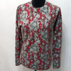 Kim Rogers Paisley Sweater Top